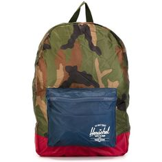 Herschel Supply Co. Camouflage Print Backpack (462.735 IDR) ❤ liked on Polyvore featuring bags, backpacks, green, camo bag, herschel supply co backpack, rucksack bag, multi colored backpacks and green backpack