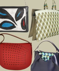 """Vote for Kate Chan's """"Charlene"""" Bag!! Click the red arrow to left and it will turn green! The must have eco- chic bag!!   Your Favorite Independent Handbag Designer from InStyle.com"""