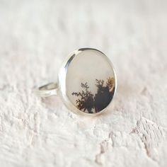 Dendritic Agate Ring in New SHOP Jewelry+Accessories at Terrain