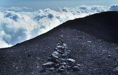 Richard Long - A LINE IN JAPAN - MOUNT FUJI  1979