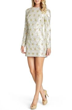 Free shipping and returns on Dress the Population 'Bailey' Long Sleeve Sequin Dress at Nordstrom.com. A sequin-encrusted dress is patterned in a snowflake-inspired geo print for a glittering go-to style choice this holiday season.