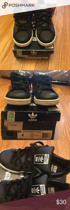 Adidias Stan Smith- Star Wars Adidas Stan Smith- Star Wars | Size 4 | Condition: Used | Black & White | Star Wars edition adidas Shoes Sneakers
