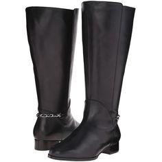 Rose Petals Adina Extra Wide Shaft Boot (Black Nappa) Women's Boots ($101)