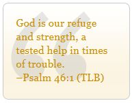 July 17, 2013  |  Jesus to the Rescue ~ Lord Jesus, help me to remember the power of Your holy name!