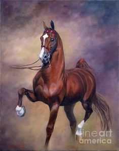Horse painting by Jeanne Newton Schoborg
