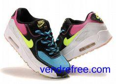 info for 52110 c1e56 Vendre Pas Cher Femme Chaussures Nike Air Max 90 (couleur rose,bleu,noir, blanc,vert) en ligne en France.