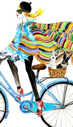 #Bike Girl, outfit inspired by Ralph Lauren Spring 2013 RTW(detail) #Life Series #Sunny Gu