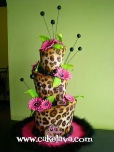 AH! that what I was thinking about for my wedding cake! :D (just bigger... with red flowers!)