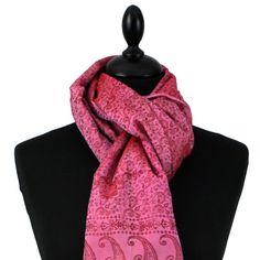 Echarpe en soie rose Echarpe tissée sur 180 cm de long et 55 cm de large 5995bfc1d35