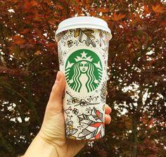 Fall Starbucks cup! #autumn #statbucks Hot Coffee, Coffee Cups, Starbucks Cup, Autumn, Fall, Energy Drinks, Iphone 5s, Beverages, Coffee Mugs
