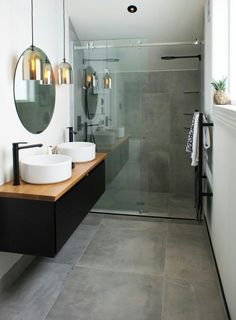What is an ensuite bathroom? It is kind of private bathroom which is connected to the bedroom. This bathroom usually is attached to the master bedroom. It may have no different from any usual bathroom Small Bathroom Tiles, Ensuite Bathrooms, Bathroom Renos, Laundry In Bathroom, Bathroom Flooring, Bathroom Interior, Modern Bathroom, Bathroom Ideas, Bathroom Grey