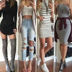 Dont let the leaves fall before you get your drop dead gorgeous fall outfits! Teen Fashion Outfits, Mode Outfits, Outfits For Teens, Dress Outfits, Girl Fashion, Casual Outfits, Fashion Dresses, Vetement Fashion, Teenager Outfits