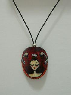 collar  bailarina flamenca roja por Rominart en Etsy