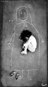 dibujo para dormir de niña iraquí