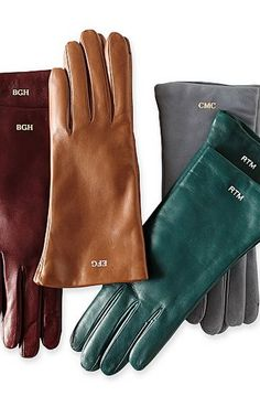 Italian leather gloves with optional monogram #gifts
