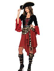 Cosplay+Costumes/Party+Costumes+Noble+Pirates+Skull+Halloween+Costumes+Caribbean+Style+For+Women(Dress+Hat)+–+CAD+$+162.75