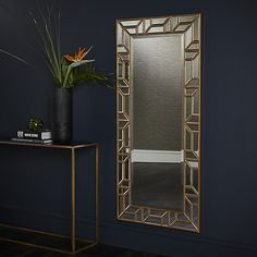 Buy John Lewis Verbier Full Length Wall Mirror, Gold from our Mirrors range at John Lewis & Partners. Looking Stunning, John Lewis, Oversized Mirror, Wall Mirror, Bedroom, Gold, Downstairs Loo, Stuff To Buy, Home Decor