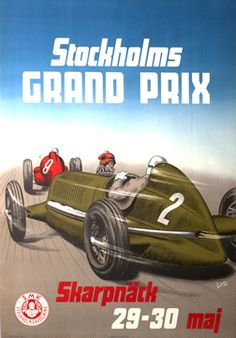 Lindroth poster: Stockholms Grand Prix