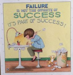Failure-Handmade Fridge Magnet-Mary Engelbreit Artwork