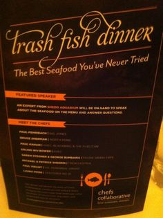 Trash Fish Dinner Chefs Collaborative Edible Chicago Magazine