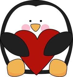Valentine's Day Penguin Clip Art - Valentine's Day Penguin Image