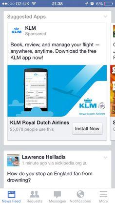 KLM app advertising