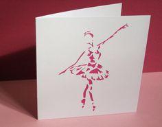 Handmade Ballet Card - Ballerina Card on Etsy, $6.10