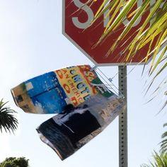 We brake for custom board shorts! #shortomatic #boardshorts #customboardshorts #beachlife #stopsign