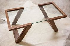 The Evans Coffee Table is the cornerstone of our Evans Collection. Hand made from solid Black Walnut, the table is finished with 5 hand-rubbed  | Contemporary design that will certainly inspire you | www.pinterest.com/ #inspirationideas #interiordesign #furniture #interiordesigninspiration