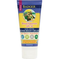 All Natural Sunscreen - Badger SPF 30 Lightly Scented Lavender - Safe Zinc Oxide…