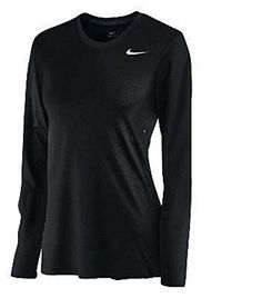 Nike Womens Long Sleeve Legend Shirt BlackCool Grey  Medium ** Continue to the product at the image link.Note:It is affiliate link to Amazon.