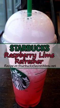 Try Starbucks Raspberry Lime Refresher! It's light, refreshing and delicious!‪StarbucksSecretMenu‬