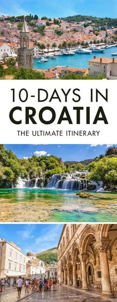 Heading to Croatia for a few days? Click the pin to read our travel guide on how… Heading to Croatia for a few days? Click the pin to read our travel guide on how to spend 10 days in Croatia. It's the only Croatia Itinerary you will need, trust me. Croatia Itinerary, Croatia Travel Guide, Europe Travel Tips, European Travel, Travel Guides, Travel Destinations, Travel Hacks, Croatia Destinations, Travelling Tips