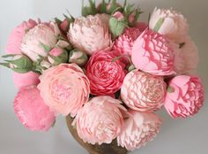 paper flowers paper wedding bouquet wedding bouquets bridal bouquet paper bouquet bridesmaids bouquets paper peonies pink flowers pink peony by FlowerDecoration on Etsy https://www.etsy.com/ca/listing/114386925/paper-flowers-paper-wedding-bouquet