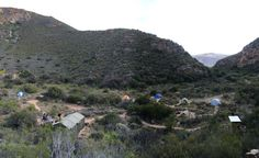 Leopard trail, Baviaanskloof.  The camp sites are all so organized!