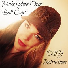 Instructions for sewing your own ball cap