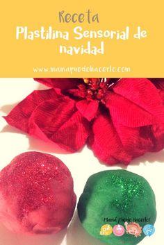 Plastilina Sensorial de Navidad - Christmas Play dough Plum, Diy, Food, Easy Crafts, Diy Crafts, Play Dough, Group, Xmas, Bricolage