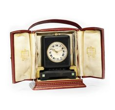 An Art Deco Leather, Gold and Turquoise Minute-repeater Clock. Via FD Gallery, www.fd-inspired.com