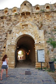 Fortezza main entrance Main Entrance, Crete, Homeland, Old Town, Venetian, Grand Canyon, Travel, Old City, Viajes