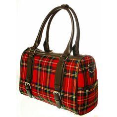 Heritage of Scotland - Ladies 12oz Wool Tartan Double Buckle Handbag Patricia A04859 8770: Stewart Royal - Dunedin Cashmere