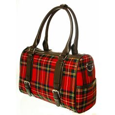 Heritage of Scotland - Ladies 12oz Wool Tartan Double Buckle Handbag Patricia A04859 8770: Stewart Royal - Dunedin Cashmere
