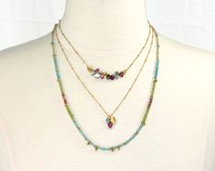 Boli shah Colorful bar necklace in muted by MimsyBorogroveDesign, $45.00