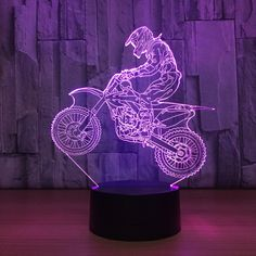 3D Night Lamp Light with Colour Changings.