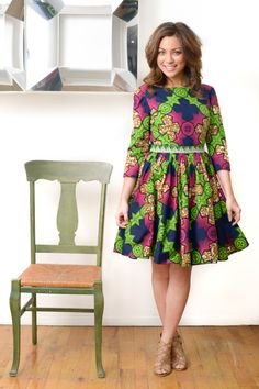 Button Babydoll Ankara Wax print dress by LiLiCreations on Etsy, $95.00
