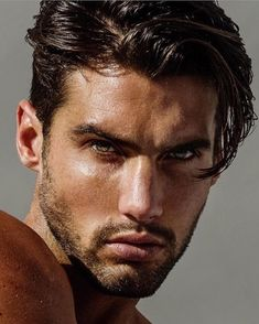 Mitchell Wick, Men's Fashion, Male Model, Beautiful Man, Guy, Handsome, Hot, Sexy, Eye Candy, Beard, Shirtless, Wet メンズファッション 男性モデル