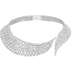 Messika     Swan Diamond Necklace ($759,000) ❤ liked on Polyvore featuring jewelry, necklaces, silver, diamond jewelry, diamond necklace and diamond jewellery