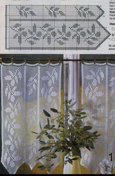 Filet crochet curtains - The Lamp Crochet Curtain Pattern, Crochet Curtains, Curtain Patterns, Crochet Doilies, Crochet Patterns, Filet Crochet, Knit Crochet, Crochet Pillow, Crochet Minecraft