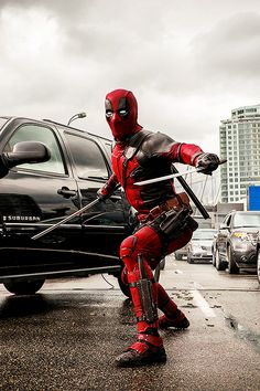 Marvel's Merc with a Mouth is finally starring in his own film. Deadpool in theaters February 2016 Marvel Comic Character, Marvel Movies, Deadpool Movie 2016, Film Deadpool, Marvel Universe, Captain America, X Men, Deadpool Pictures, Hulk