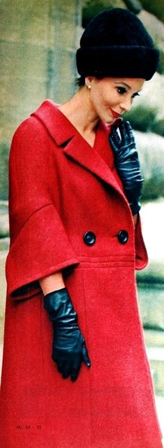 Red coat by Enzo, September 1962