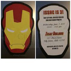 Iron Man (Die-Cut) Invitation + White Envelope